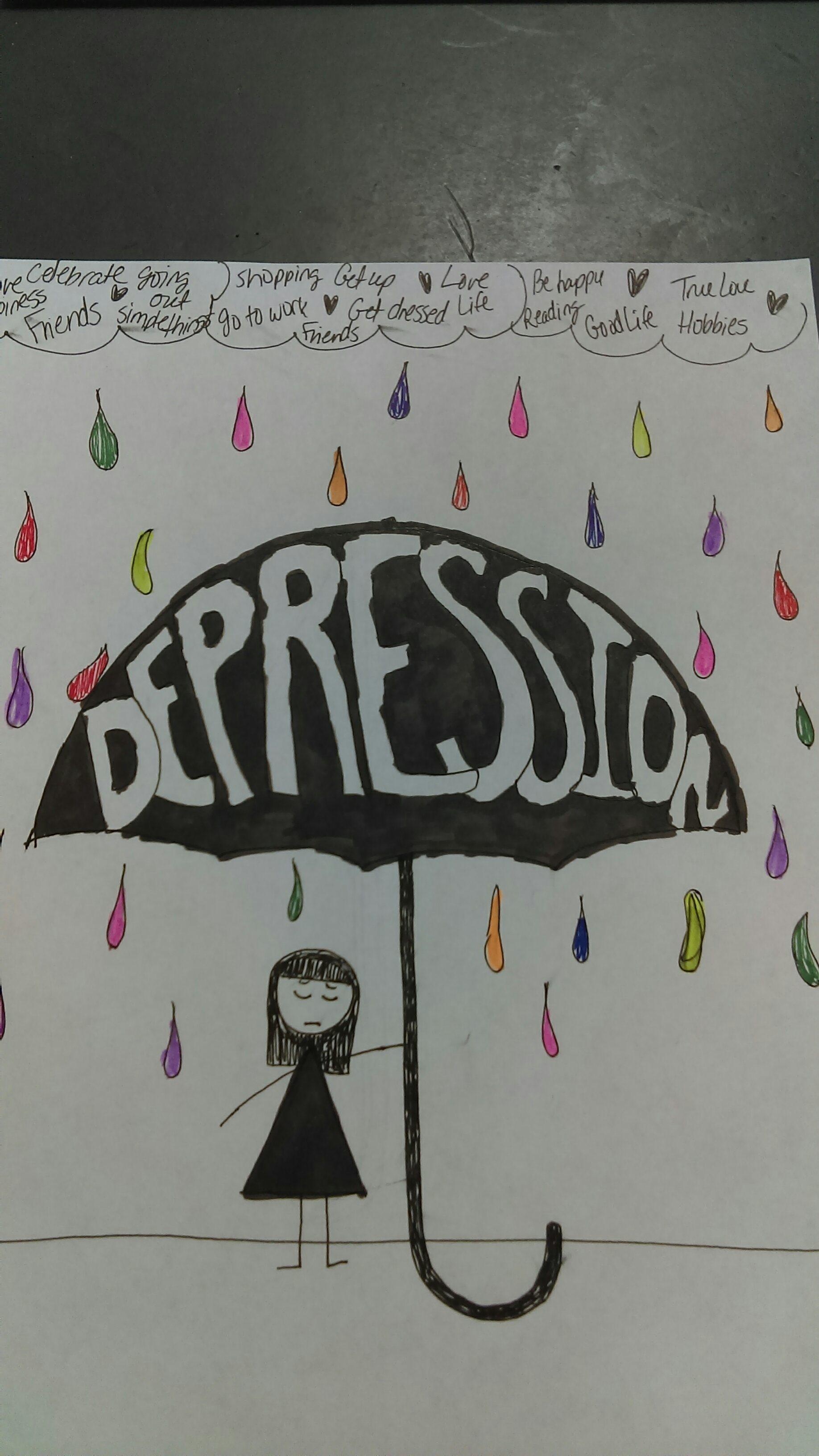 depression photo of umbrella