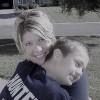 Julie Hertzog and her son.