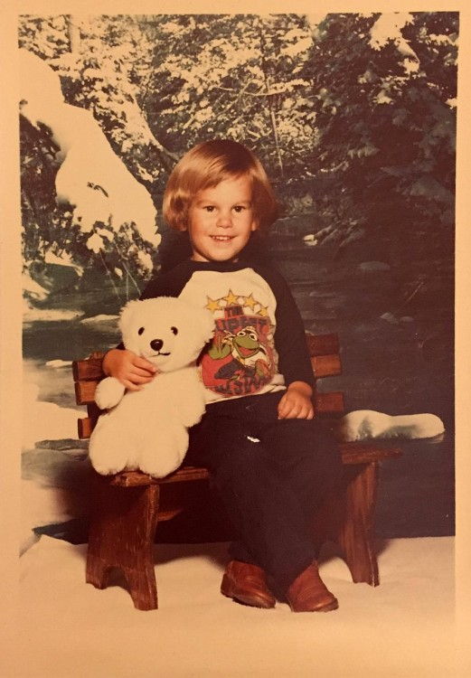 An old photo of the author's brother, Rob