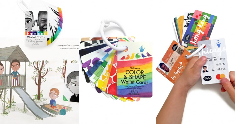 The Emotions Bundle, Children's Color & Shape Wallet Cards, Children's Public Transit Wallet Cards