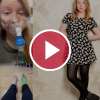woman with ehlers-danlos syndrome behind red video play button