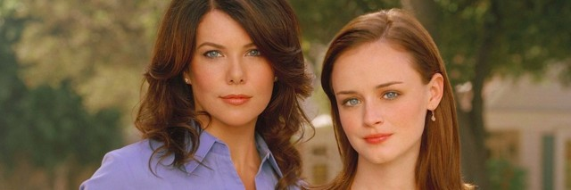 "Lauren Graham and Alexis Bledel as Lorelai and Rory of ""Gilmore Girls"""