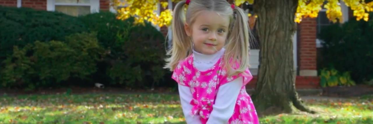 little girl with leukodystrophy