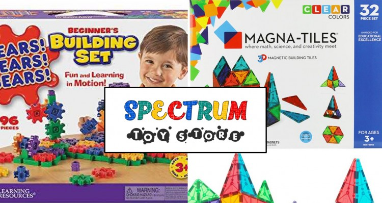 Learning Resources Gears Building Set and Magna Tiles