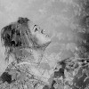 View of girl and tree in Double exposure