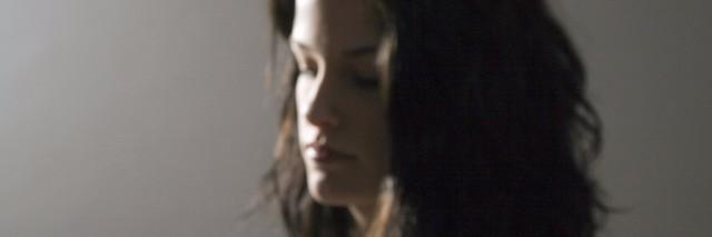 side profile of sad woman