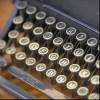 Close-up of a typewriter.