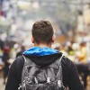 Young traveler with back pack