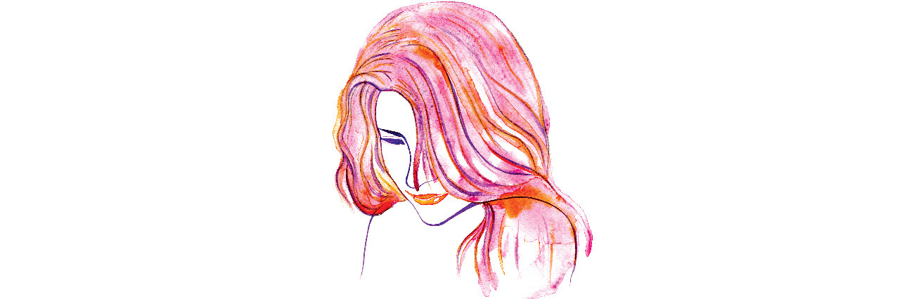Drawing of a young woman.