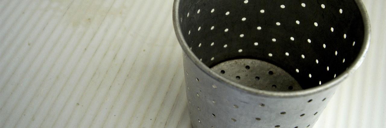 Close-up of a colander