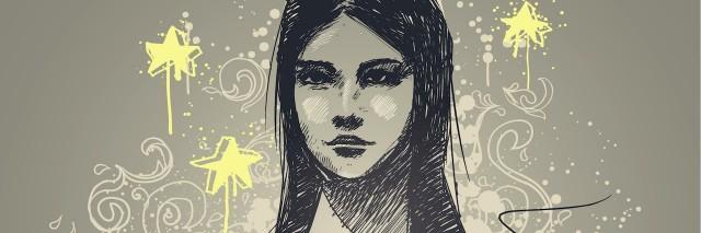 illustration of a girl