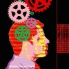 an illustration of a man with gears turning in his head