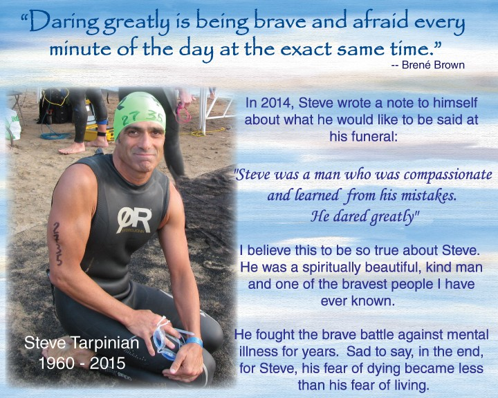 a photo of a man in swimming gear cropped into a page of text