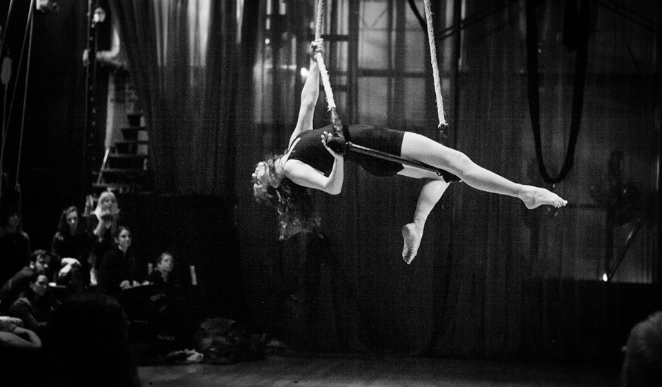 woman on the trapeze