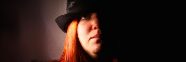 the author in a hat