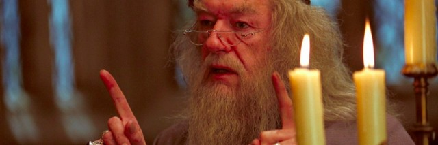 Dumbledore from Harry Potter movie