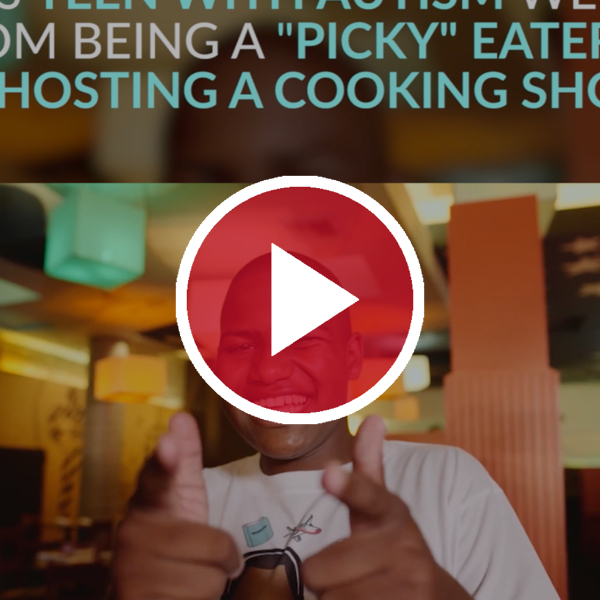 chase 'n yur face cooking show behind red video play button
