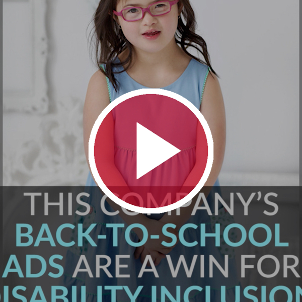 small girl models for matilda jane behind video play button