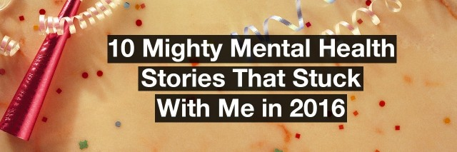 confetti. Text reads: 10 mental health stories that stuck with me in 2016