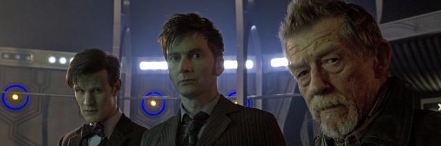 matt smith, david tennant and john hurt from doctor who