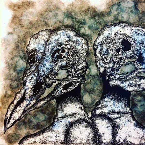 Illustration of two birds