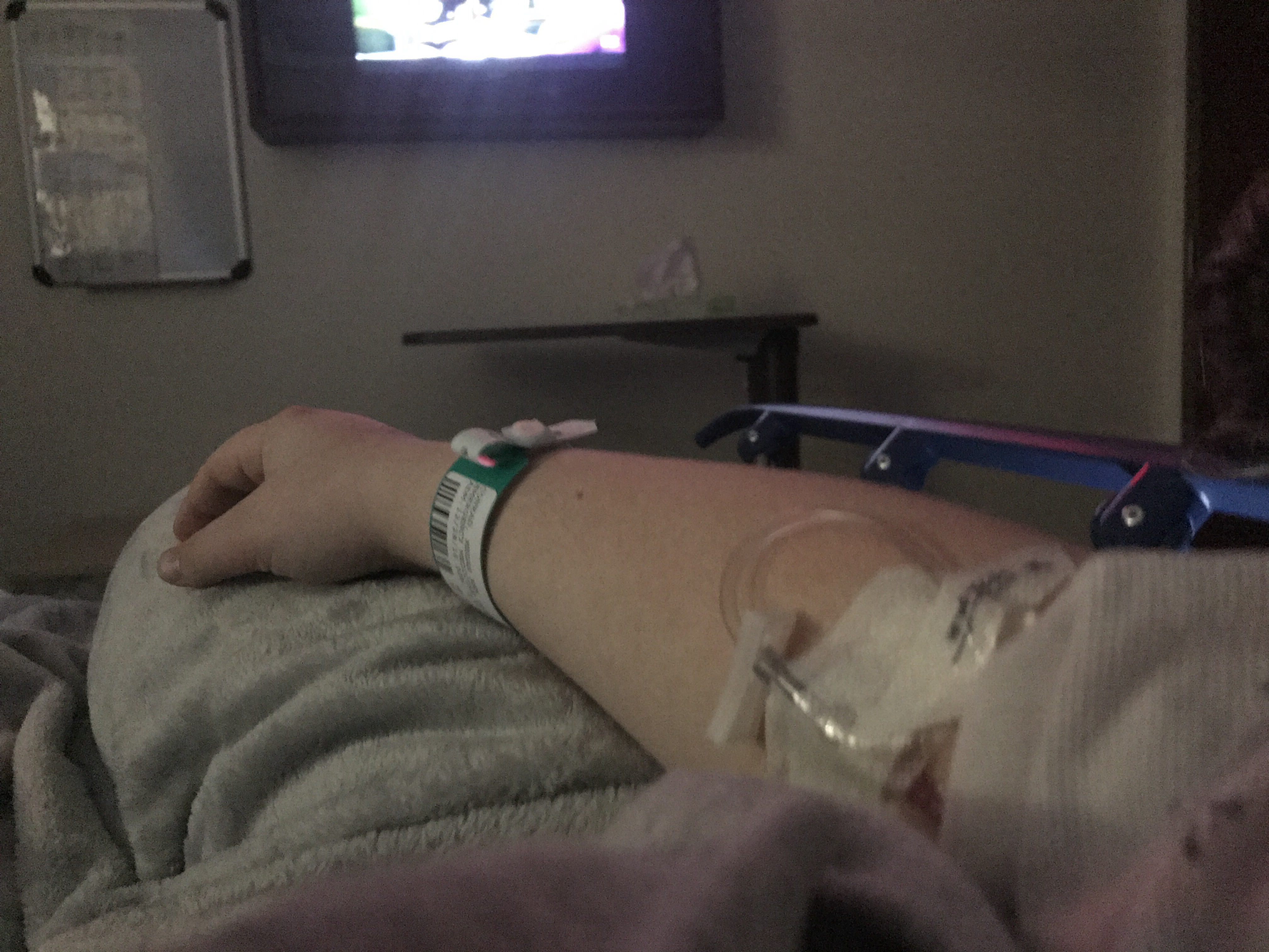 woman with IV in