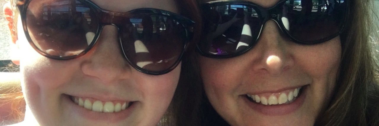 The author and her daughter take a selfie