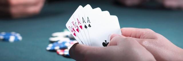 three women playing poker