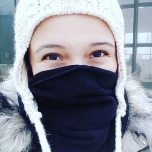 woman dressed in winter gear