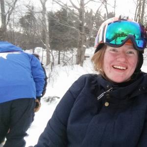 Courtney on the slopes.