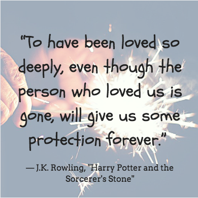 grief meme that says to have been loved so deeply even though the person who loved us is gone will give us some protection forever