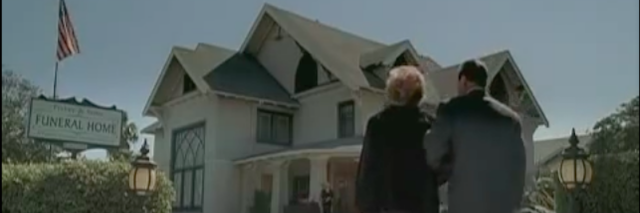 six feet under shot of house