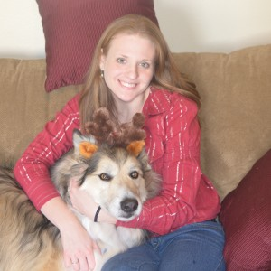 Contributor with her dog