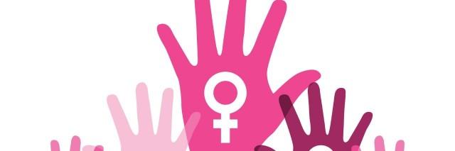 Feminism hands raised.