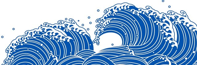 illustration of a blue wave
