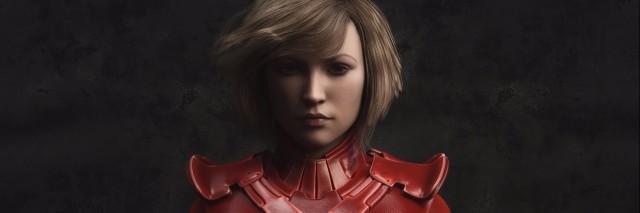 female warrior portrait