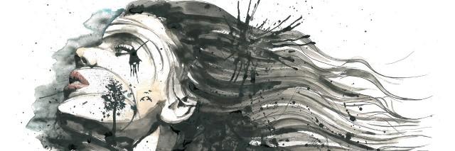 watercolor woman image