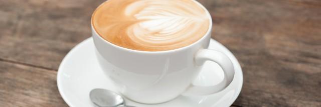 cup of coffee ,latte art heart