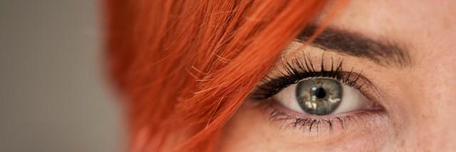 Close up shot of woman eye looking at camera