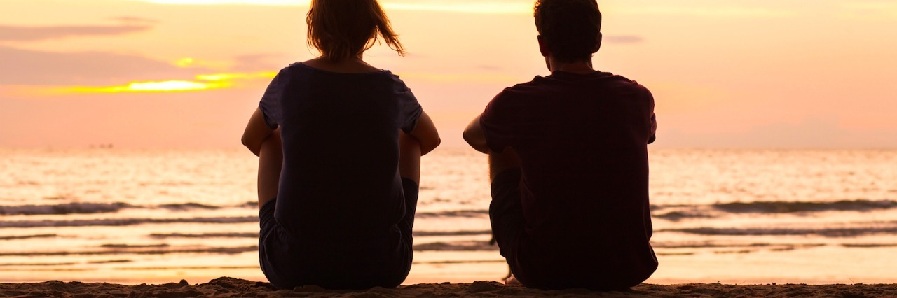 photo of two people under the text [16 things people on the autism spectrum want their loved ones to know]