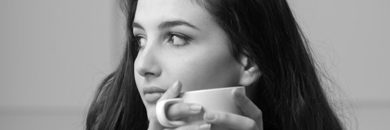 Woman having a coffee