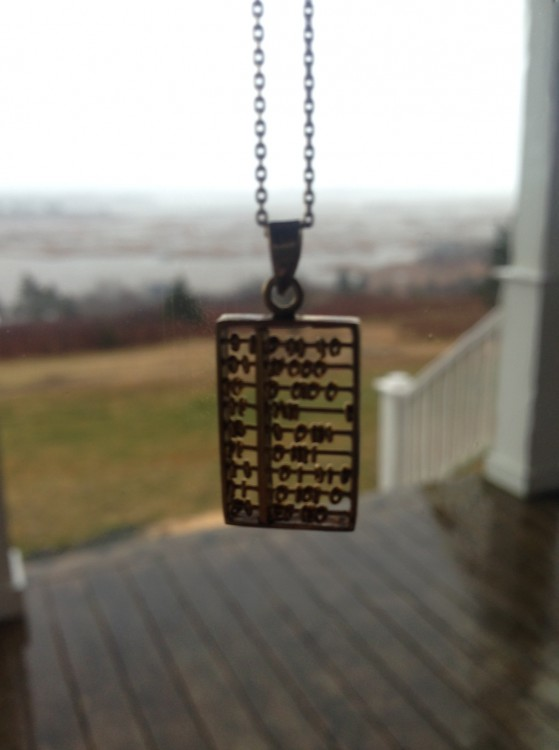 an abacus pendant