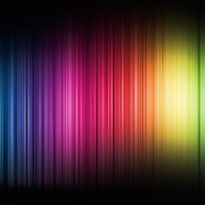 color spectrum bands against a black background