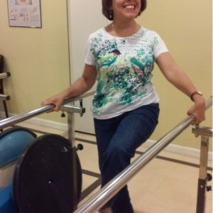 Juana Ortiz doing physical therapy.