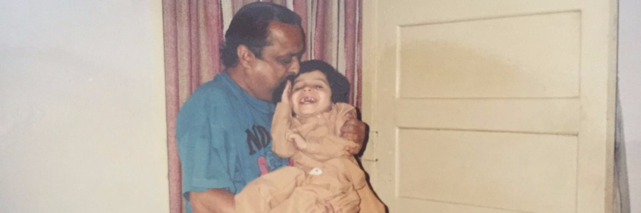 kanchan bhat as a little girl and her grandfather