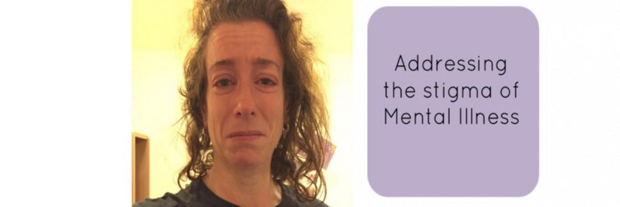 "photo of Mandy Stevens next to text ""addressing the stigma of mental illness."""