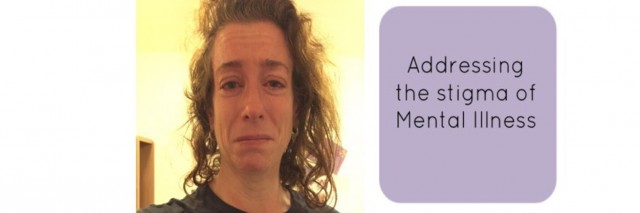 "photo of Mandy Stevens next to text ""addressing the stigma of mental illness."""