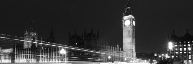 London's Big Ben at night.