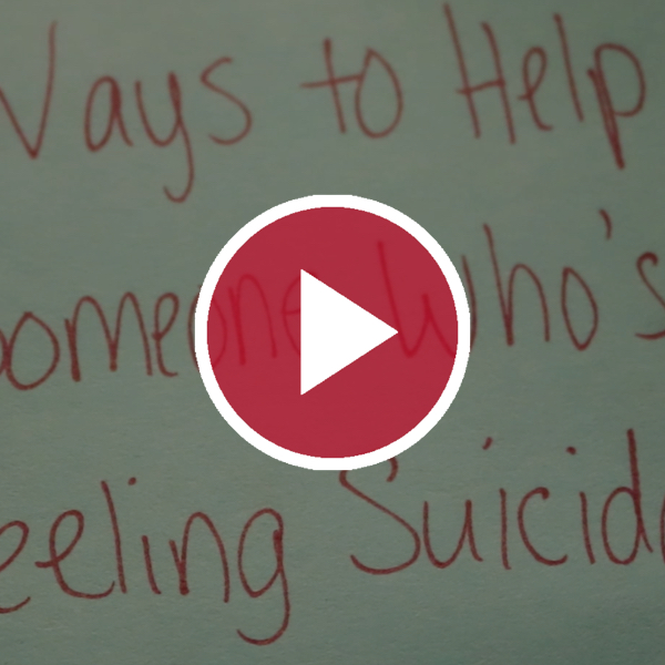 'Ways to Help Someone Who's Feeling Suicidal'