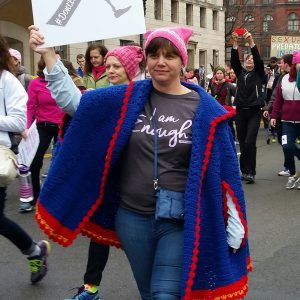 Peggy at the Women's March.